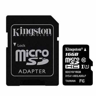 Kingston UHS-I U1 Class 10 80MBps microSDHC With Adapter - 16GB