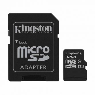 Kingston UHS-I U1 Class 10 80MBps microSDHC With Adapter - 32GB