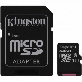 Kingston UHS-I U1 Class 10 80MBps microSDCS With Adapter - 64GB