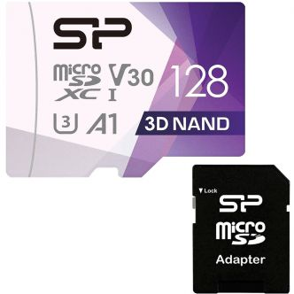 Silicon Power Superior Pro UHS-I U3 Class 10 100MBps microSDXC 128GB with SD Adapter