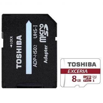 Toshiba microSDHC memory card EXCERIA M302-EA Class 10 standard UHS-I U3 90MBps speed with 8GB SD adapter