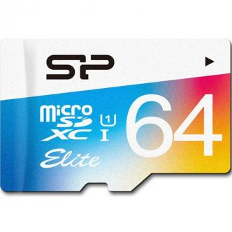 Silicon Power Color Elite Class 10 85MBps microSDHC Without Adapter - 64GB