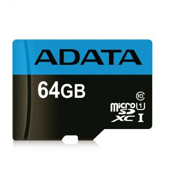 ADATA Premier V10 A1 UHS-I Class 10 85MBps microSDHC With Adapter 64GB